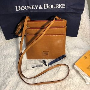 Dooney leather triple zip north so Florentine  NWT